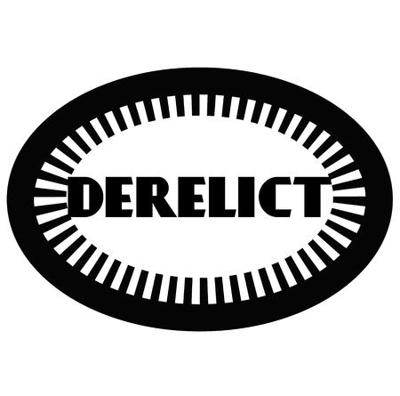 DERELICT stamp on white