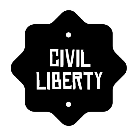 CIVIL LIBERTY stamp on white background. Signs and symbols series. Stok Fotoğraf - 124027003