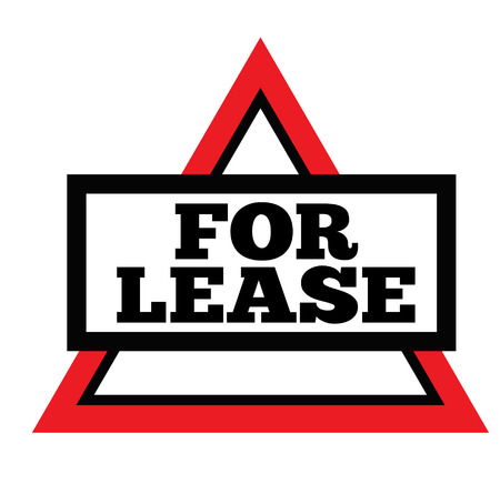 FOR LEASE stamp on white background. Signs and symbols series.