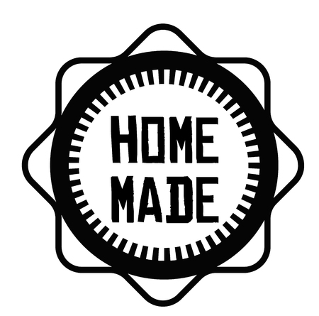HOME MADE stamp on white Ilustrace