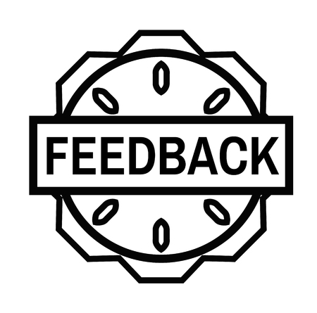 FEEDBACK stamp on white background. Signs and symbols series. Stockfoto - 124027014