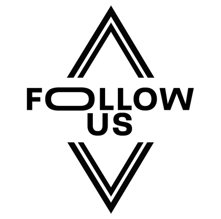 FOLLOW US stamp on white background. Signs and symbols series. Illustration