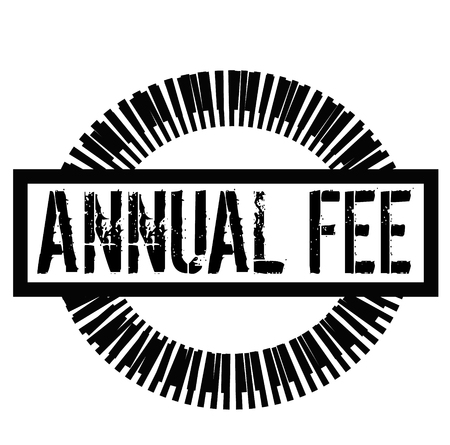 ANNUAL FEE stamp on white background. Signs and symbols series.