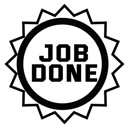 JOB DONE stamp on white background. Signs and symbols series.