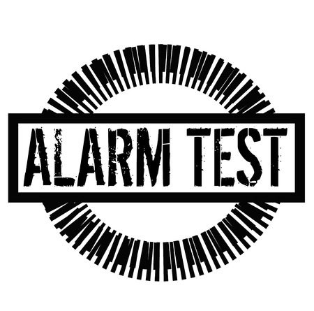 ALARM TEST stamp on white background. Signs and symbols series.