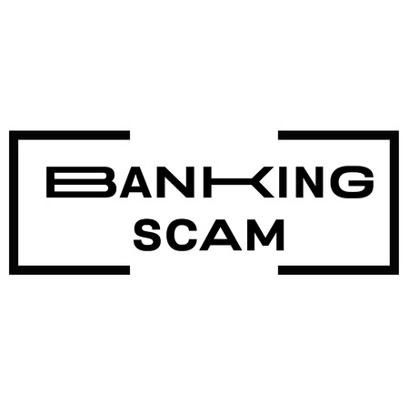 BANKING SCAM stamp on white background. Signs and symbols series.