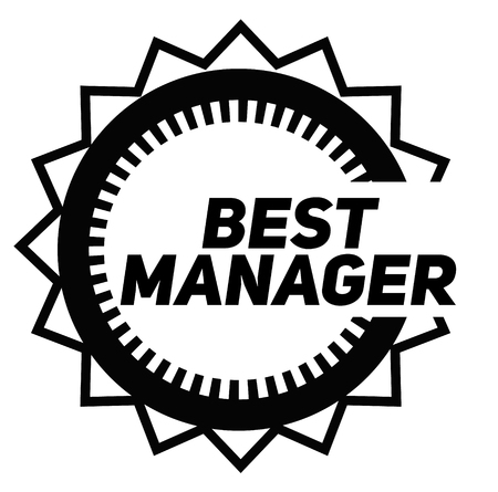 BEST MANAGER stamp on white background. Signs and symbols series. Stok Fotoğraf - 124027056