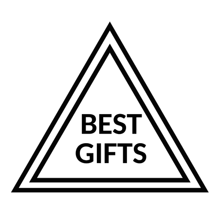 BEST GIFTS stamp on white