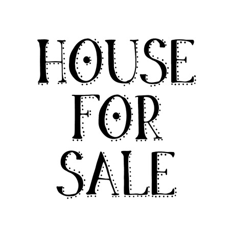 HOUSE FOR SALE stamp on white background. Signs and symbols series.