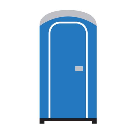 Public toilet flat illustration. City life and transport series.