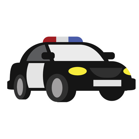 Police car flat illustration. City life and transport series.