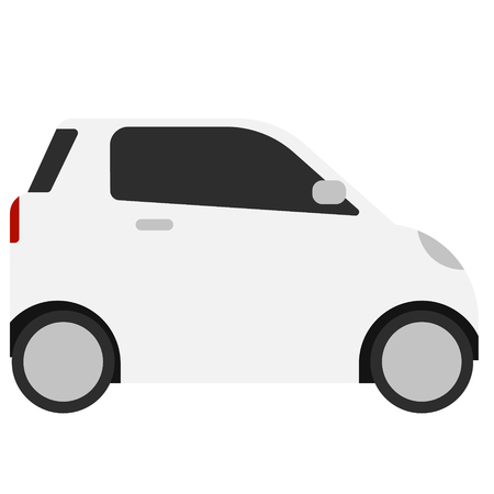 Smart car flat illustration on white