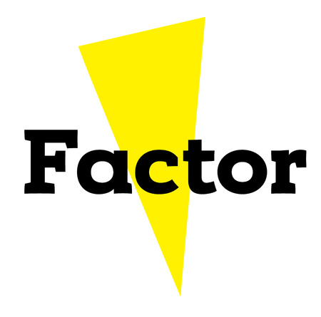 factor stamp on white background. Sign label sticker.