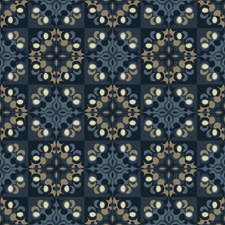 Decorative tiles seamless pattern. Geometric tiles series.