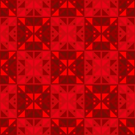 Geometric tiles order seamless pattern. Geometric tiles series.