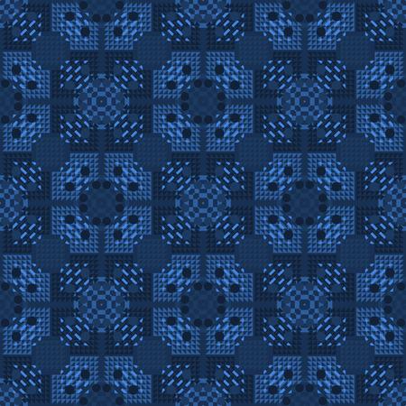 Bright geometric seamless pattern. Geometric tiles series.