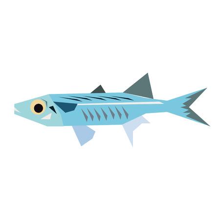 sea fish flat illustration. Marine and underwater series.