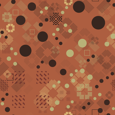 Faded geometric seamless pattern. Abstract geometry series.