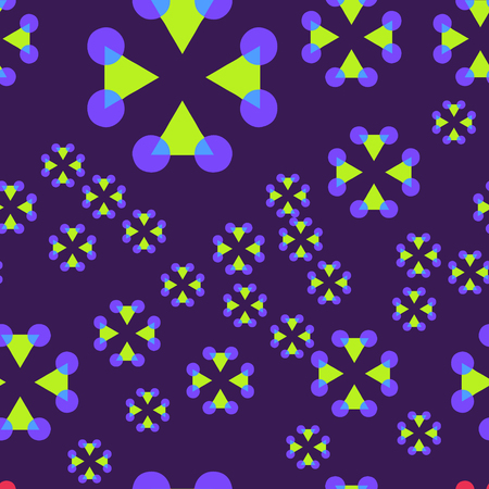 Geometric crosses seamless pattern, abstract colorful background, texture.