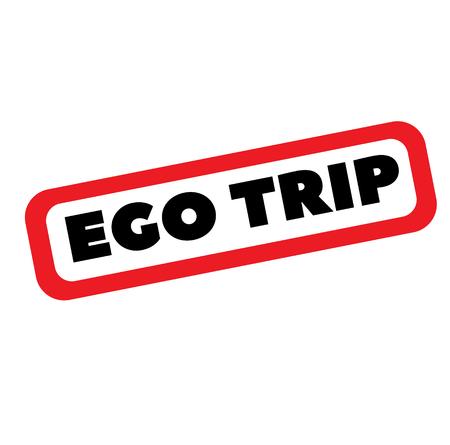 ego trip stamp on white Çizim