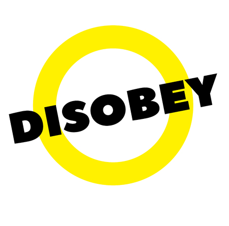 disobey stamp on white