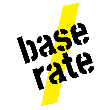 base rate stamp on white background. Sign label sticker. Illusztráció