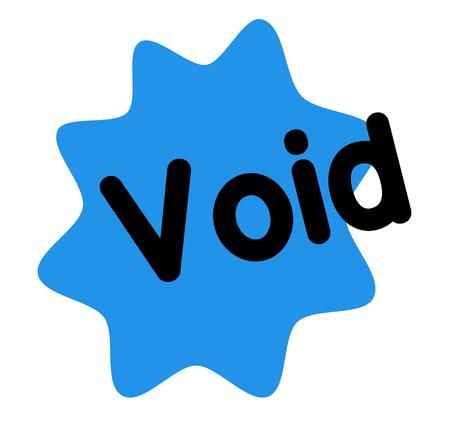 void stamp on white background. Sign label sticker.