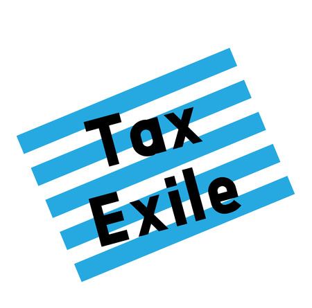 tax exile stamp on white background. Sign label sticker. Çizim