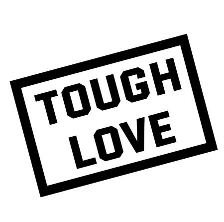 tough love stamp on white