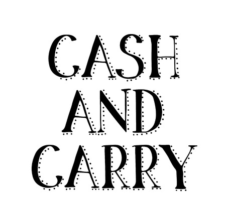 CASH AND CARRY stamp on white background. Signs and symbols series. Illustration