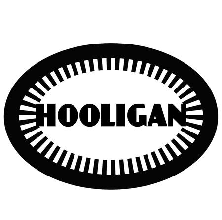 HOOLIGAN stamp on white