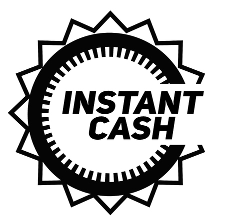 INSTANT CASH stamp on white background. Signs and symbols series.