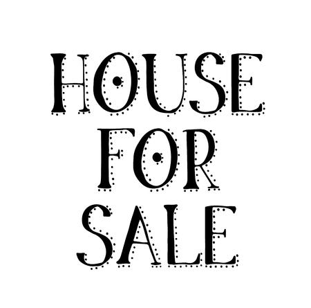 HOUSE FOR SALE stamp on white Illustration