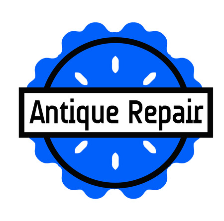 ANTIQUE REPAIR stamp on white background. Signs and symbols series.