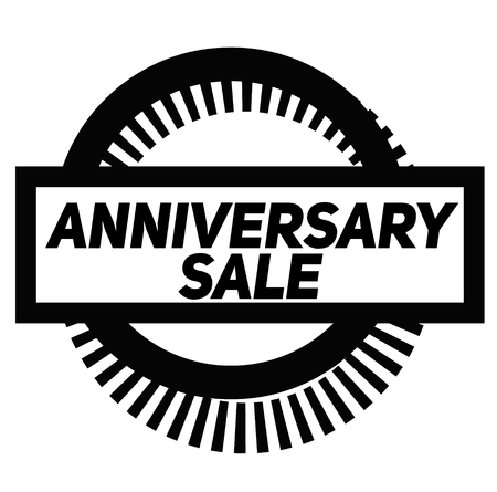 ANNIVERSARY SALE stamp on white background. Signs and symbols series.