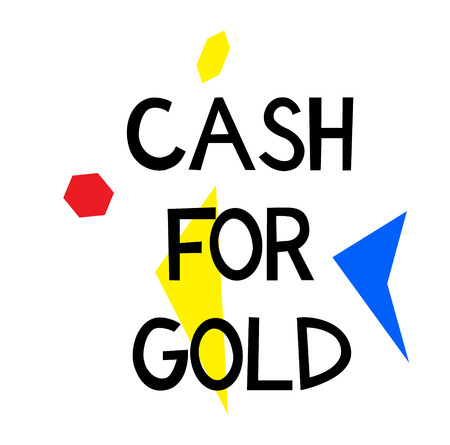 CASH FOR GOLD stamp on white background. Signs and symbols series.