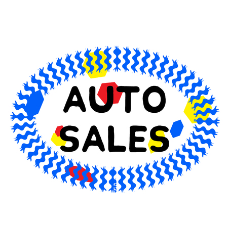 AUTO SALES stamp on white background. Signs and symbols series.