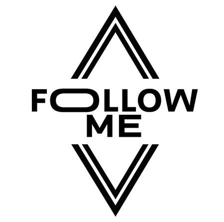 FOLLOW ME stamp on white background. Signs and symbols series.