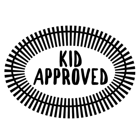 KID APPROVED stamp on white background. Signs and symbols series. Illustration
