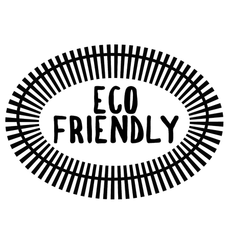 ECO FRIENDLY stamp on white background. Signs and symbols series.