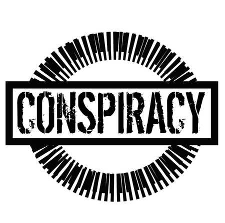 CONSPIRACY stamp on white