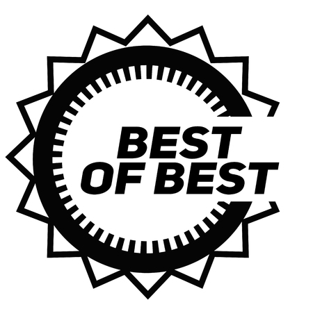 BEST OF BEST stamp on white background. Signs and symbols series.