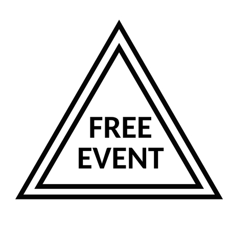 FREE EVENT stamp on white