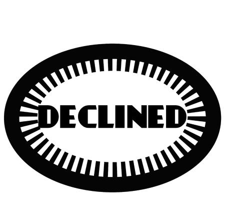 DECLINED stamp on white Illustration