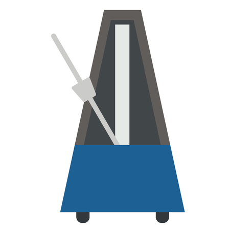 Metronome flat illustration. City life and everyday objects series. Illustration