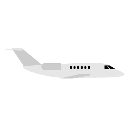 Plane flat illustration. City life and everyday objects series.