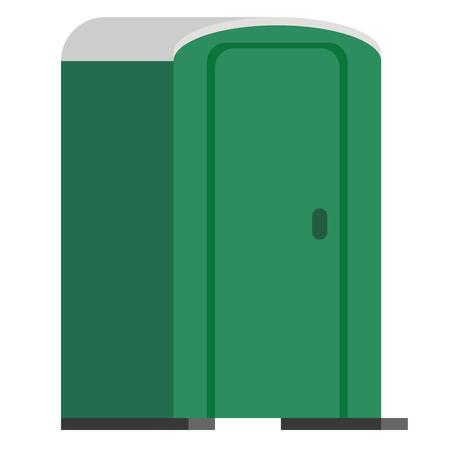 Openbaar toilet vlakke afbeelding. Serie over stadsleven en alledaagse voorwerpen.
