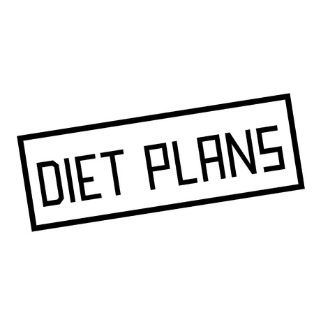 DIET PLANS stamp on white. Stamps and advertisement labels series.