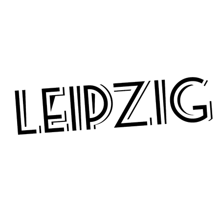 LEIPZIG stamp on white