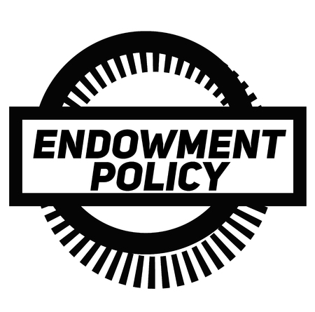 ENDOWMENT POLICY stamp on white background. Signs and symbols series. Vettoriali